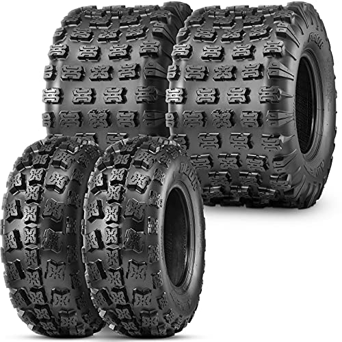 OBOR Advent ATV Tires 23x7-10 Front & 22x11-9 Rear, 6 Ply GNCC Champion Tires, 23x7x10 & 22x11x9 ATV Tires (4 Pack)