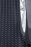 Resilia Heavy Duty Garage Floor Runner & Protector Mat - Slip-Resistant Grip, Embossed Diamond Plate Pattern, Water & Stain Resistant, Black (4 feet x 15 feet)