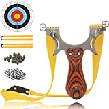 COOY Slingshot- Professional Upgraded Light Slingshot for Hunting, with 2 Rubber Bands and 4 Mechanical Sights, Adult Outdoor Catapult Set …