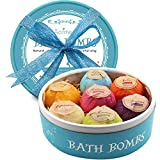 Aofmee Bath Bombs, 7 Pcs Fizzies Spa Kit Perfect for Moisturizing...