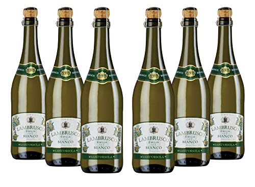 Sant'Orsola Lambrusco Emilia IGT Vino Blanco Seco Italiano - 6 Botellas X 750ml