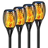 Aityvert Solar Lights, 43' Flickering Flames Torch Lights Outdoor Waterproof Landscape Decoration Lighting Dusk to Dawn Auto On/Off Security Flame Lights for Yard Garden Pathway Driveway 4-Pack