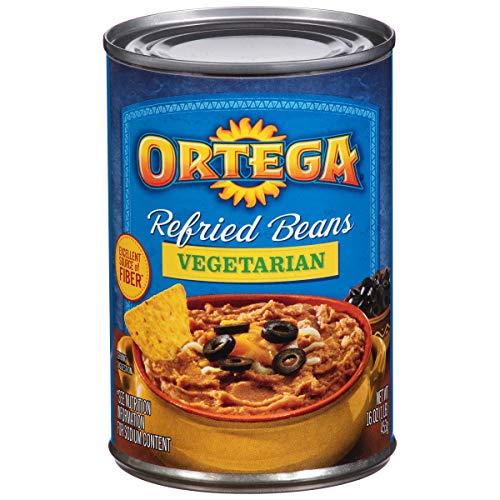 Ortega Refried Beans, Vegetarian, 16 Ounce (Pack of 12)