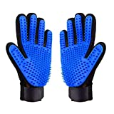 AUBBC Pet Grooming Glove 2 PCS, Upgraded 259 Soft Pet Hair Remover Gentle Deshedding Brush Glove Deshedding Tool for Cats Dogs -Efficient Pet Hair Remover Mitt(M)
