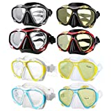 MELARIO Taucherbrille für Kurzsichtigkeit und Alterssichtigkeit – wasserdicht bis zu 30 Meter Tiefe