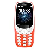 Nokia 3310 3G - Unlocked Single SIM Feature Phone (AT&T/T-Mobile/MetroPCS/Cricket/Mint) - 2.4' Screen - Warm Red - U.S. Warranty