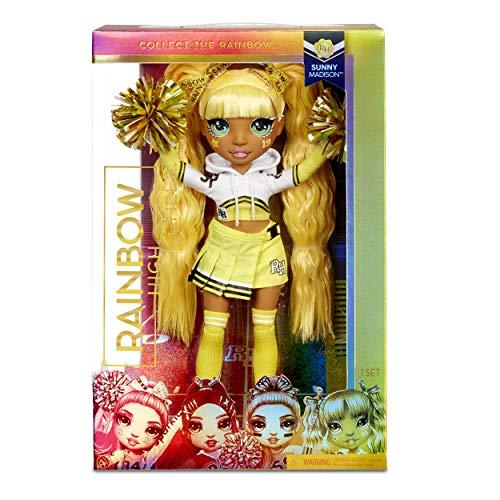 Image 1 - Rainbow High Poupée Mannequin Majorette. Vêtements élégants et pompons. Sunny Madison, Poupée Thème Jaune. Rainbow High série, cadeau parfait pour les filles de 6 ans et plus