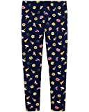 Osh Kosh Girls' Kids Full Length Leggings, Navy Emojis, 7
