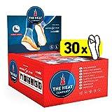 THE HEAT COMPANY Semelles Chauffantes Adhésives - 30 Paires - Extra Chaud - 8 Heures de Chaleur - Chaleur immédiate - autochauffante - purement Naturel - Small Taille: 36-40