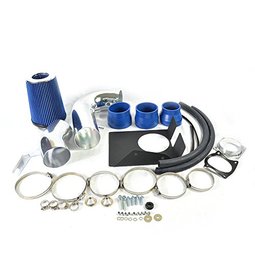 4' Intake Pipe Performance Cold Air Intake Induction Kit With Filter Fit For Ford 1997 1998 1999 2000 2001 2002 2003 F150 / Expedition & 97-99 Ford F-250 98-99 Lincoln Navigat V8 (Blue)