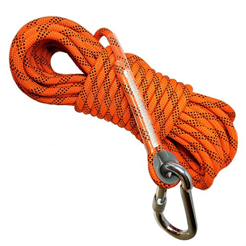 Deluxe Magnet Fishing Rope and Carabiner 52 FT(16M) | 2000LB Factory...