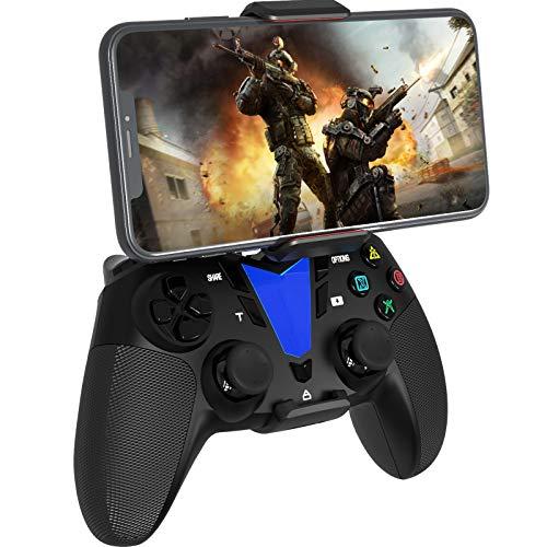 Darkwalker Mando Inalámbrico Bluetooth para iOS/Android OS/PS3/PC Windows, Mando De Videojuegos Compatible con Los Juegos Móviles Negro