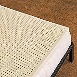 Pure Green 100% Natural Latex Mattress Topper - Medium Firmness - 2 Inch - Twin Size