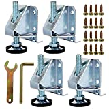 4 Pack Heavy Duty Adjustable Furniture Leveler Legs Leveling Feet for Furniture, Cabinets, Table, Shelves, Workbench