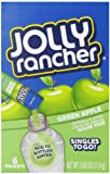 Jolly Rancher Singles To Go Powdered Drink Mix, 6-Count Box (12 Pack) – Green Apple – Sugar-Free Drink Powder, Just Add Water