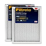 Filtrete UT04-2PK-6E MPR 1900 14x25x1 AC Furnace, Healthy Living Ultimate Allergen, 2-Pack Air Filter, 14 x 25 x 1, 2