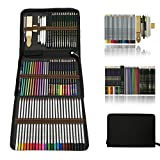 Professionnel Colore Crayons de Dessin Art Set - Malette dessin Inclus...