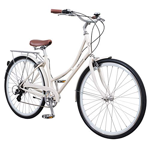 Pure City Classic Step-Through 8-Speed Bicycle, 43cm/Small, Magdalen Cream/White
