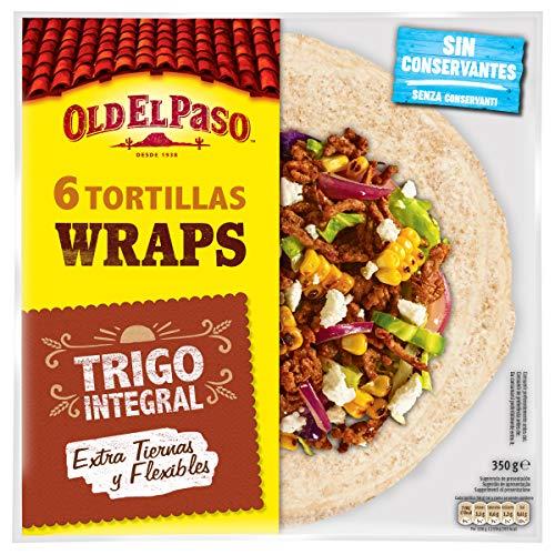 Old El Paso - Tortillas de Trigo Integrales 6 unidades, 350g