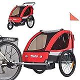 TIGGO Convertible Jogger Remorque à Vélo 2 en 1, pour Enfants BT504-D01...