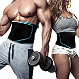 Back To Fit Waist Trimmer for Sweet Abs Sweat Your Fat and Discover Your Hidden Six-Pack Using This Fitness Belt Will Help You Burn More Fat Around Your Waist (No ABS-Black)
