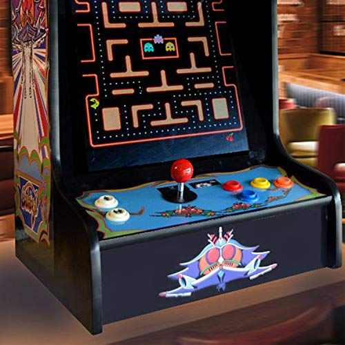 Doc-and-Pies-Arcade-Factory-Classic-Home-Arcade-Machine-Tabletop-and-Bartop-60-Retro-Games-Full-Size-LCD-Screen-Buttons-and-Joystick-Black