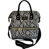 Gilded Imports Insulated Double Tier Large Designer Lunch Bag Tote – Multi Uses, Everyday Lunch, Picnic, Food Holder.