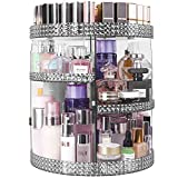 HEMTROY 360 Degree Rotating Makeup Organizer, 7 Layers Adjustable Storage Different Kinds of Cosmetics, Plus Size, Large Capacity Cosmetic Storage Organizer Best for Bathroom and Vanity, Gray