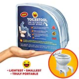 TOILESTOOL- New Toilet Stool - The Lightest, Smallest for Any Bathroom - The Best for Travel - Truly Portable - Squatting Stool - Space Saver - Stackable