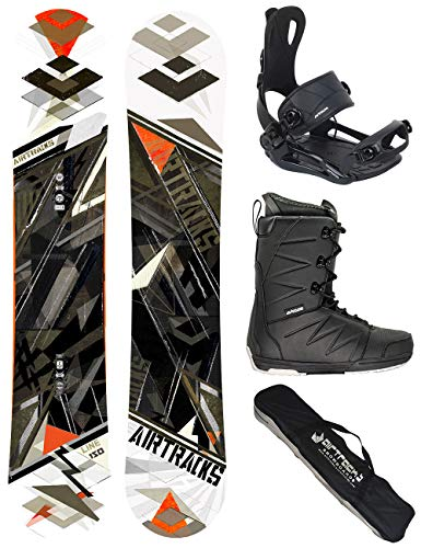 AIRTRACKS Snowboard Set - Board Line Wide 150 - Fixations Master - Softboots Star Black 46 - SB Bag