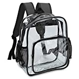 Zicac Clear Stadium Approved Mini Backpack For Adjustable Daypack Transparent Backpack See Through Backpack Clear Bag With Mesh Side Pockets