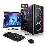 Megaport Super Méga Pack Ranger - PC Gamer • Ecran LED 24' • Clavier et souris gamer • Intel Core i5-9400F • GeForce GTX 1650 • 16Go • 1To • Win10 • WiFi ordinateur de bureau PC gaming PC de bureau PC complet