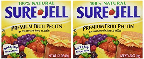 Sure Jell Premium Fruit Pectin For Homemade Jams And Jellies, 100% Natural 1.75 oz (2 Packs)