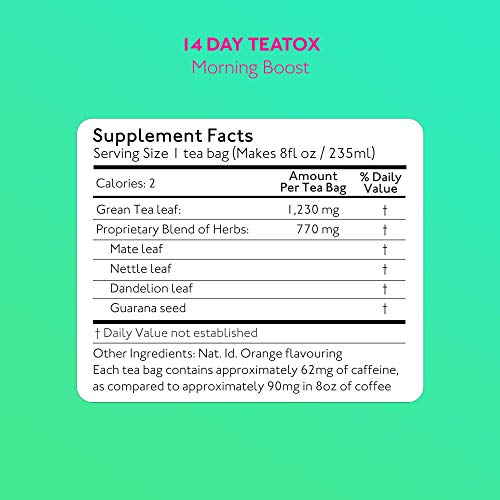 SkinnyMint 14 Day Ultimate Teatox Detox Tea. All Natural Tea Blend to Support Your Weight Loss Goals and Help Boost Your Energy Levels. 5