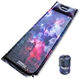 Foxelli Sleeping Pad - Comfortable & Compact Self Inflating Sleeping Mat with Pillow, Lightweight,...