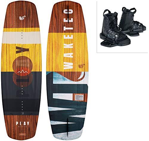 WAKETEC Wakeboard-Set Play mit Moto Bindung, Package für Anfänger und Fortgeschrittene, 134 cm 139 cm, leicht zu Fahren, Körpergewicht 40-85 kg, Kinder Erwachsene Einsteiger, Größe:L-XL, Länge:134 cm