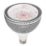 LED Grow Light Bulb, 150W Daylight White Full Spectrum Grow Light for Indoor Plants, 200 LEDs Plant Light Bulb for Seedlings Vegetable, E26/E27 Grow Lamp for Hydroponics, Greenhouse, Organic Soil