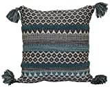 Brentwood Originals Pattern Stripe Pillow, 18' x 18', Teal