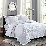 Moonlight20015 Parure de lit 3pièces avec couvre-lit matelassé...
