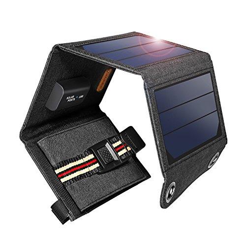 suaoki ソーラーチャージャー 60W ソーラーパネル 9枚搭載 高変換効率 折りたたみ式 ソーラー充電器 スマホ ノートパソコン 車バッテリー充電可能