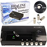 HD-Line Amplificateur terrestre TNT 4 Voies UHF VHF Gain 25dB - Amplifier...
