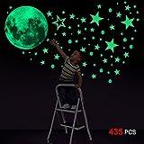 Konsait 435 Points Lune et Etoiles phosphorescentes Stickers Muraux...