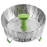 Cesta plegable de acero inoxidable de 11 pulgadas para vaporizador, plegable, telescpica, accesorios de cocina, herramienta de cocina
