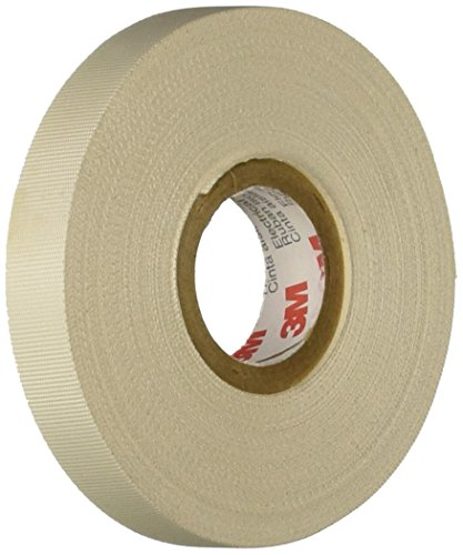 3M Glass Cloth Electrical Tape 27, White, Rubber...