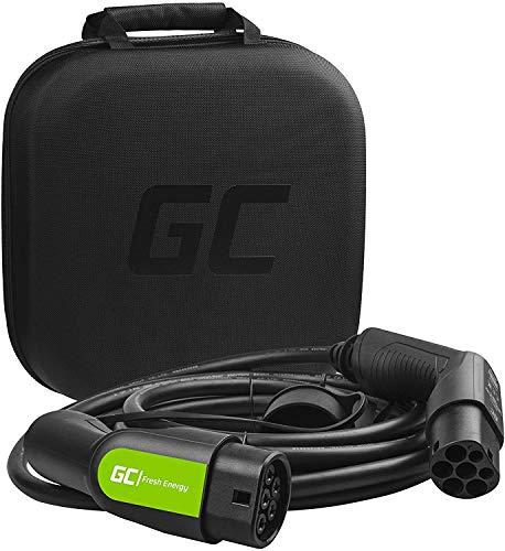 Green Cell® GC Type 2 Cable de Carga EV Vehículo Eléctrico PHEV | 3,6kW | 16A | Tipo 2 a Tipo 2 | 5 Metros | Monofásico | Compatible con Outlander PHEV, Golf GTE, Ioniq PHEV, 225xe, 330e, 530e