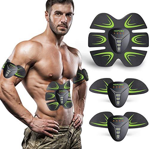HOPOSO Electroestimulador Muscular Abdominales, Estimulación Muscular...