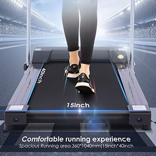 ANCHEER Treadmill, Electric Treadmills for Home with LCD Monitor Walking Running Machine Equipment for Home Gym (Sliver) 6