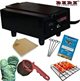 BERZ 14 Inches Electric Tandoor with Pizza cutter,Recipe Book,Grill & Skewers, Safety Glove ,Nonstick Sheet,Aluminium Trey + 2 Year Warranty (Medium)