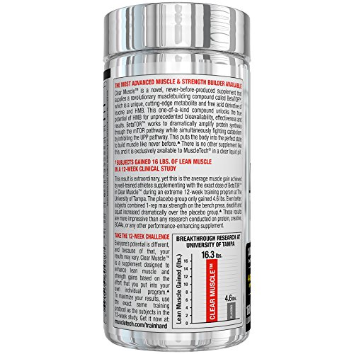 MuscleTech Clear Muscle Post Workout Recovery and Strength Builder, Amino Acid & Muscle Recovery Supplement, 168 Count 2