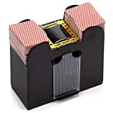 Casino Automatic Card Shuffler for Poker Games(2 Deck, 4 Deck, 6 Deck) (Plastic - 6 Deck)